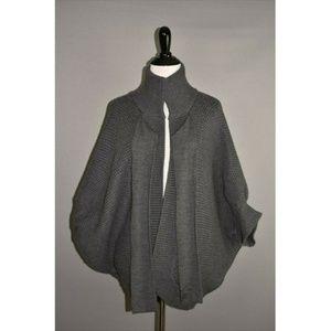 BANANA REPUBLIC Chunky Knit Wool Poncho Sweater